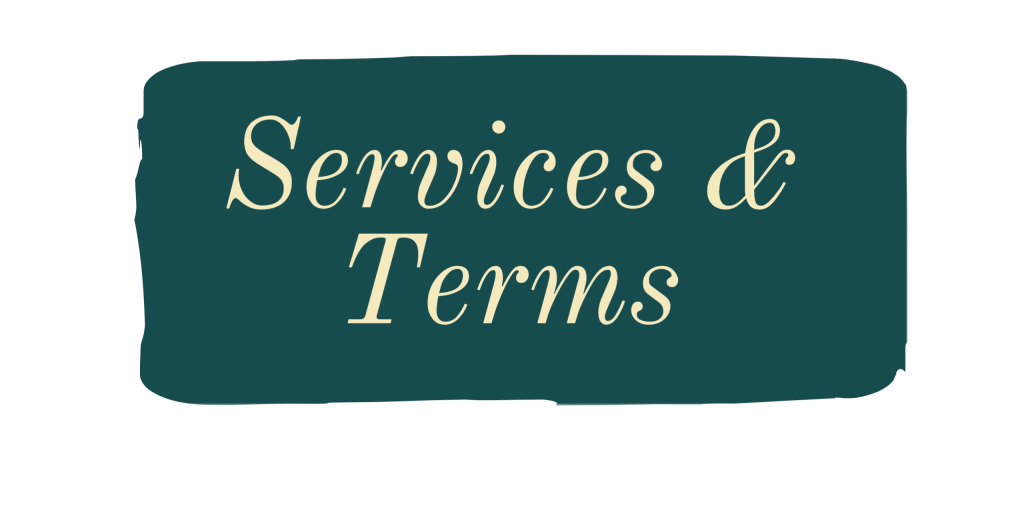 Text reads: Services and terms